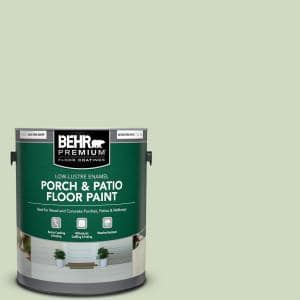 1 gal. #M380-2 Glade Green Low-Lustre Enamel Interior/Exterior Porch and Patio Floor Paint
