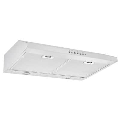 30 in. UC64NL Ducted Under Cabinet Range Hood in Stainless Steel with Night Light