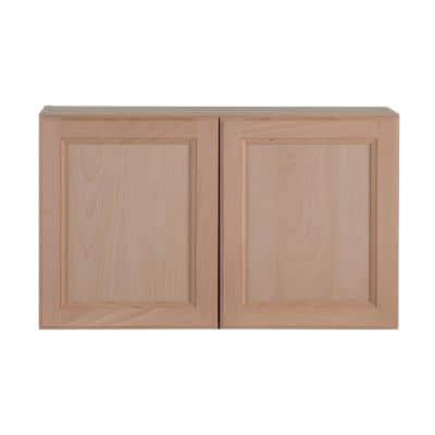 Easthaven Shaker Assembled 30x18x12 in. Frameless Wall Cabinet in Unfinished Beech