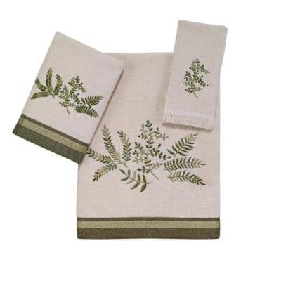Ivory Greenwood Cotton Towel Set (3-Piece)