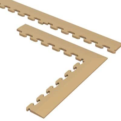 9.5 in. x 18.5 in. Beige Multi-Purpose Commercial PVC Garage Flooring Tile Trim Kit (20 sq. ft.)