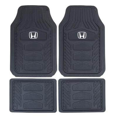 Fh Group 3 Piece 27 In X 18 In Heavy Duty Trim To Fit Rubber Floor Mats Dmf11322black The Home Depot
