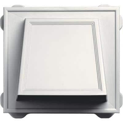6 in. Hooded Siding Vent #123-White