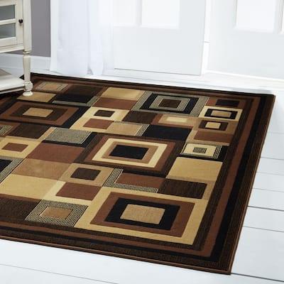 Catalina Black/Brown 8 ft. x 10 ft. Indoor Area Rug