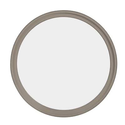 48 in. x 48 in. Round Sandstone 6-9/16 in. Jamb 3-1/2 in. Interior Trim Geometric Aluminum Clad Wood Window