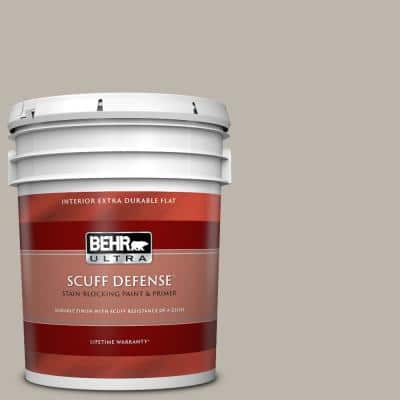 5 gal. #PPU18-12 Graceful Gray Extra Durable Flat Interior Paint & Primer