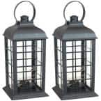 Oyster Bay Black Battery-Powered LED Indoor Lantern 13 in. (2-Pack)