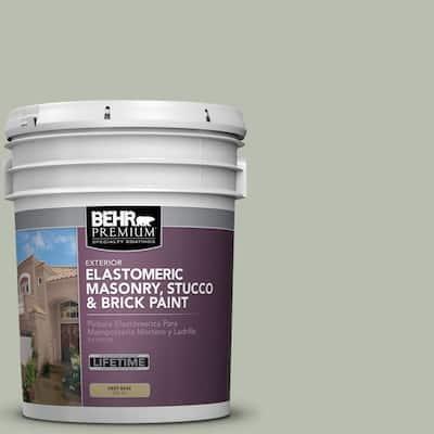 5 gal. #MS-50 Prairie Sage Elastomeric Masonry, Stucco and Brick Exterior Paint