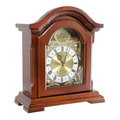 Redwood Mantel Clock with Chimes