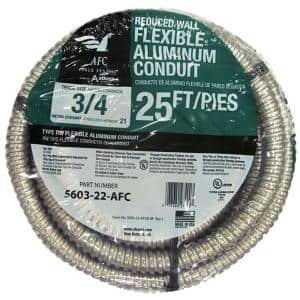 3/4 x 25 ft. Flexible Aluminum Conduit