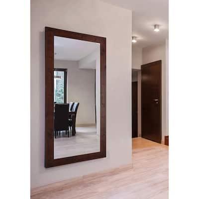 Oversized Rectangle Dark Walnut Classic Mirror 72 In H X 39 In W Dv061l The Home Depot