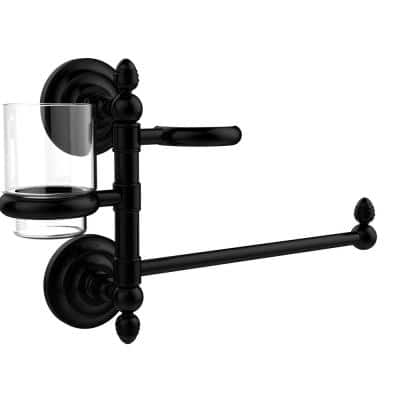 Que New Collection Hair Dryer Holder and Organizer in Matte Black