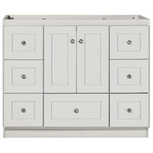 Shaker 24 in. W x 21 in. D x 34.5 in. H Simplicity Vanity with No Side Drawers in Dewy Morning