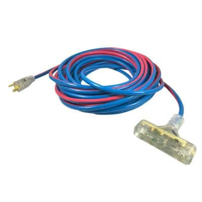 Extreme 2 ft. 12/3 Triple Tap All Weather Extension Cord