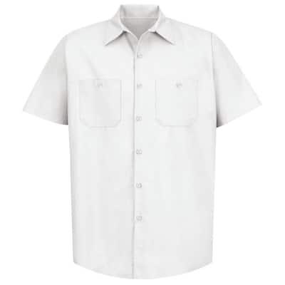 Men's Size XL (Tall) White Industrial Work Shirt