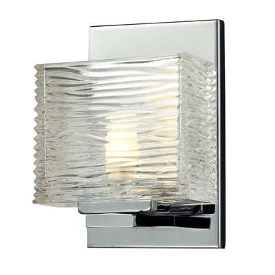 Pure 1-Light Chrome Bath Vanity Light