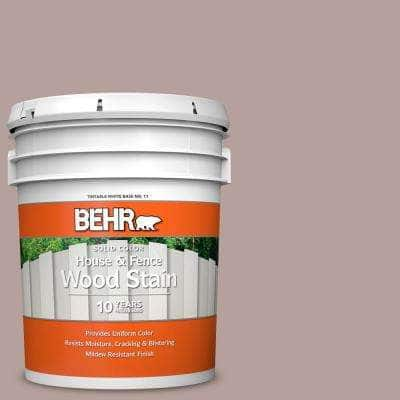 5 gal. #N130-4 Plum Taupe Solid Color House and Fence Exterior Wood Stain