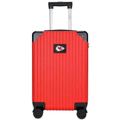 21 in. Red Kansas City Chiefs premium 2-Toned Carry-On Suitcase