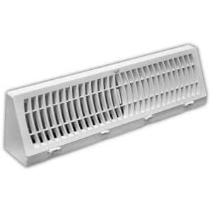 18 in. 3-Way Plastic Baseboard Diffuser Supply in White