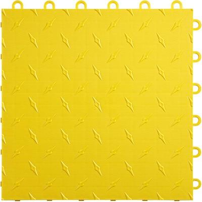 12 in. x 12 in. Citrus Yellow Diamondtrax Home Modular Polypropylene Flooring 10-Tile Pack (10 sq. ft.)