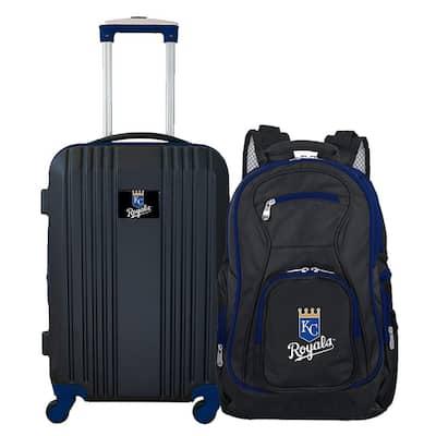 MLB Kansas City Royals 2-Piece Set Luggage and Backpack