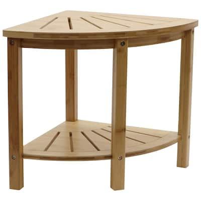 Bamboo Spa Style Corner Shower Seat