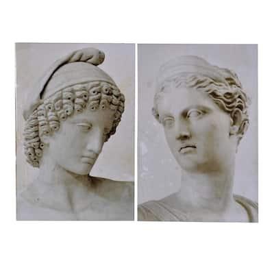 Roman Light Gray Wall Art Prints (Set of 2)
