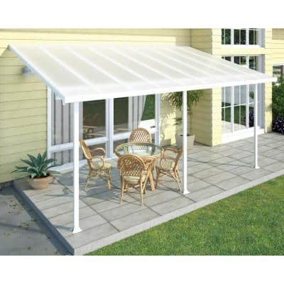 Feria 10 ft. x 18 ft. White Patio Cover Awning
