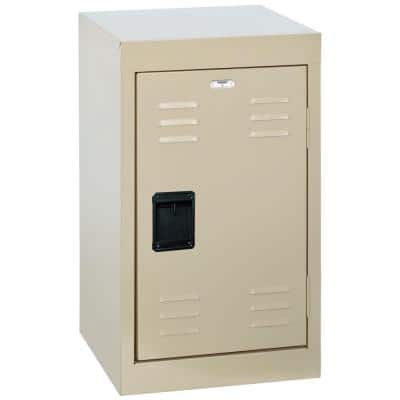 24 in. H Single-Tier Welded Steel Storage Locker in Putty