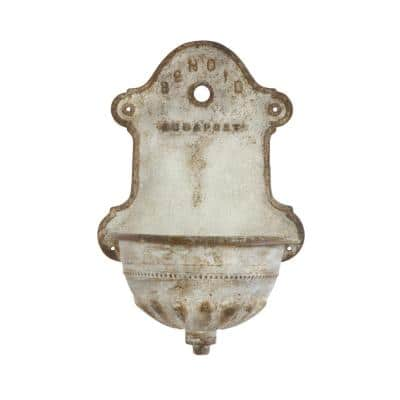 Metal Off-White Vintage Reproduction Water Fountain Wall Art