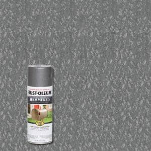12 oz. Hammered Gray Protective Spray Paint (6-Pack)