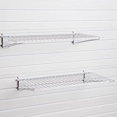 Metal Bracket Shelf - White (2-Pack)