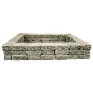 RomanStack 69 in. x 52 in. x 12 in. Cascade Blend Concrete Raised Garden Bed