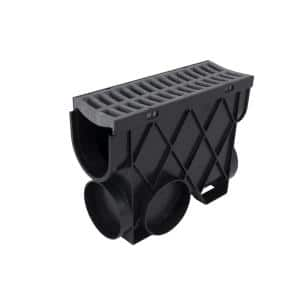 Storm Drain 4.5 in. x 13.25 in. Inline Basin Complete with Portland Grey Grate