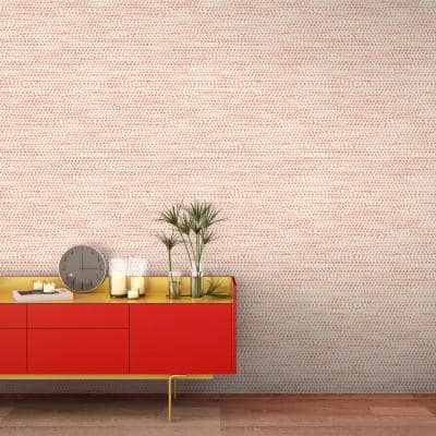 Moire Dots Coral Peel and Stick Wallpaper (Covers 28 sq. ft.)