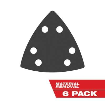 2-7/8 in. x 2-7/8 in. 240-Grit Triangle Detail Sanding Sheet (6-Pack)
