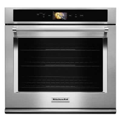 30 in. Single Electric Smart Wall Oven with Powered Attachments in Stainless Steel