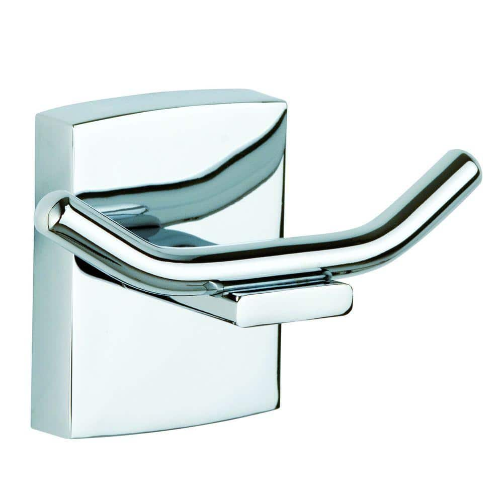 Details about  /Single Double Hook Bathroom Robe Towel Hooks Holder Hanger Chrome Wall Mounted