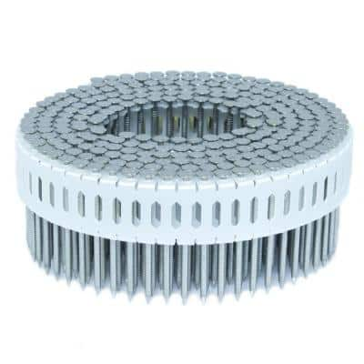 1.75 in. x 0.086 in. 0-Degree Ring Stainless Plastic Sheet Coil Nail 4,000 per Box