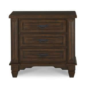Colston 3-Drawer Burlap Nightstand (30 in. H x 32 in. W x 18 in. D)
