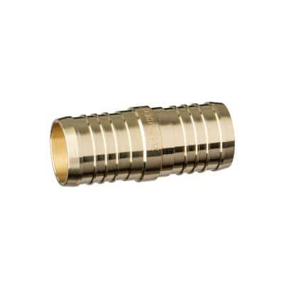 1-1/4 in. Dia Barb Brass Coupling (Bag of 10)