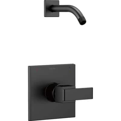Ara 1-Handle Wall Mount Shower Trim Kit with H2Okinetic in Matte Black (Valve and Shower Head Not Included)