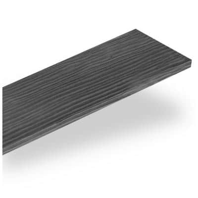 Weld 10.3 sq. ft. Carbon Wood Peel and Stick Wall Plank Paneling Kit
