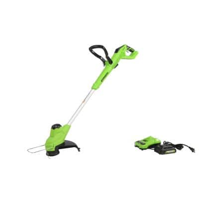 12 in. 24-Volt Battery Cordless TORQDRIVE String Trimmer with 2.0 Ah USB Battery and Charger