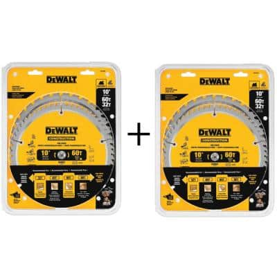 10 in. Circular Saw Blade Assortment (2-Pack) with Bonus 10 in. Circular Saw Blade Assortment (2-Pack)