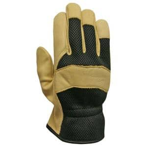 X-Large Grain Leather with Mesh Back Glove