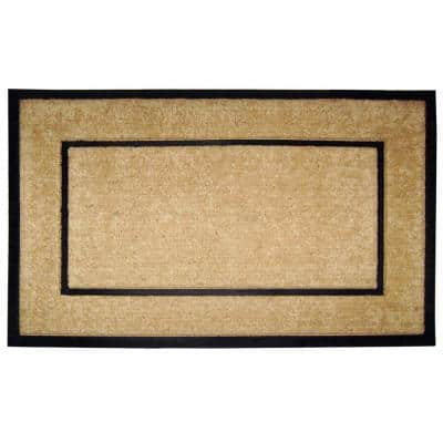 DirtBuster Single Picture Frame Black 30 in. x 48 in. Coir with Rubber Border Door Mat