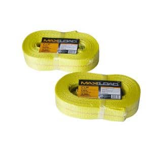 2 in. x 20 ft. x 10,000 lbs. Vehicle Recovery Tow Strap (2-Pack)