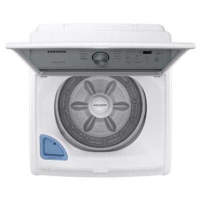 4.4 cu. ft. Capacity White Top Load Washer Agitator with Vibration Reduction