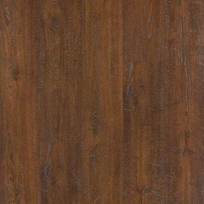Outlast+ 6.14 in. W Auburn Scraped Oak Waterproof Laminate Wood Flooring (16.12 sq. ft./case)